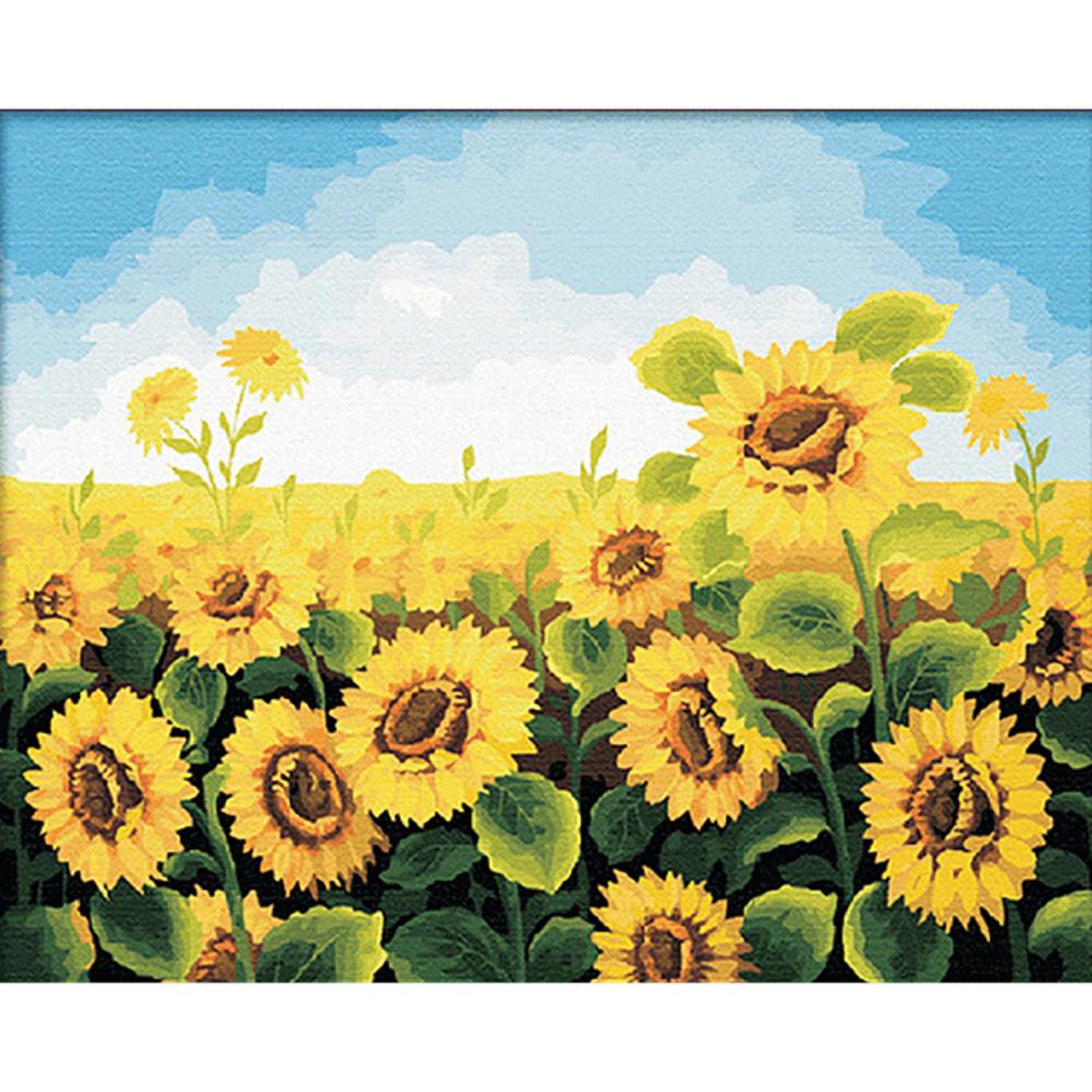 아트조이 DIY 명화그리기 세트 60 x 75 cm, 해바라기 밭