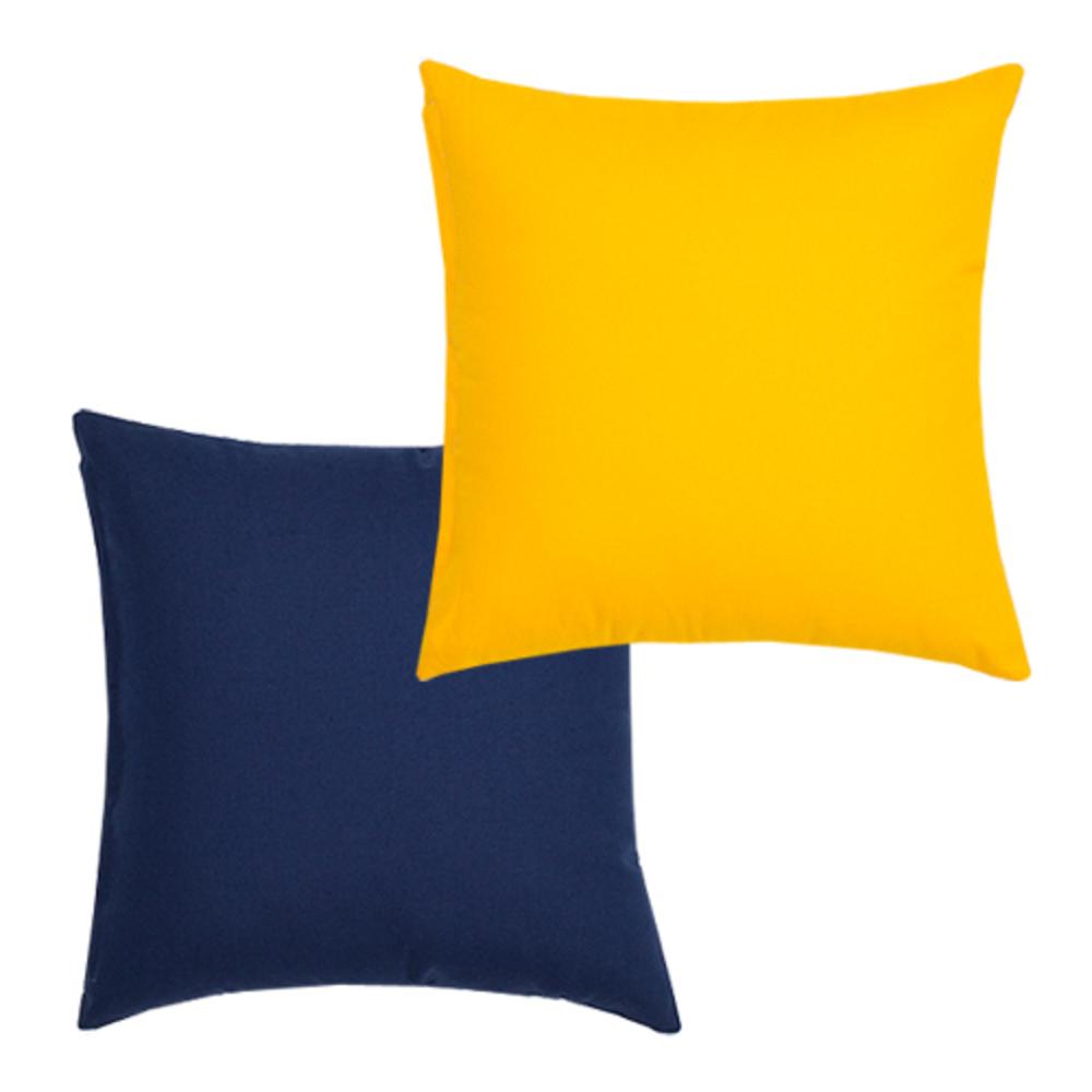 아인하우스 옥스포드 005 쿠션 솜포함 2p, 네이비, 노랑색