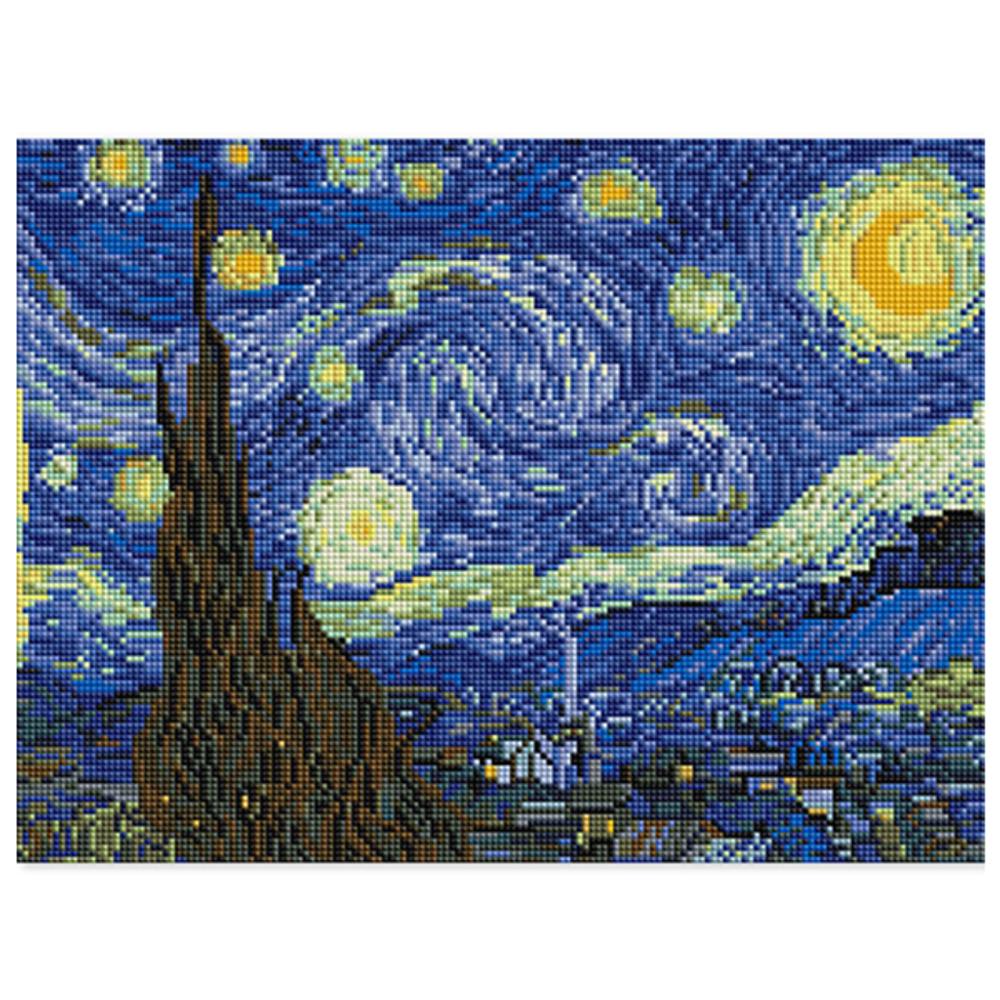 아트조이 DIY 보석십자수 30 x 40 cm, 별이 빛나는 밤에, 1개