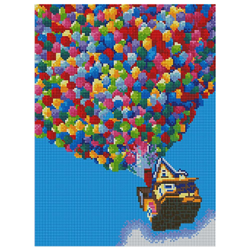 아트조이 DIY 보석십자수 30 x 40 cm, 풍선기구, 1개