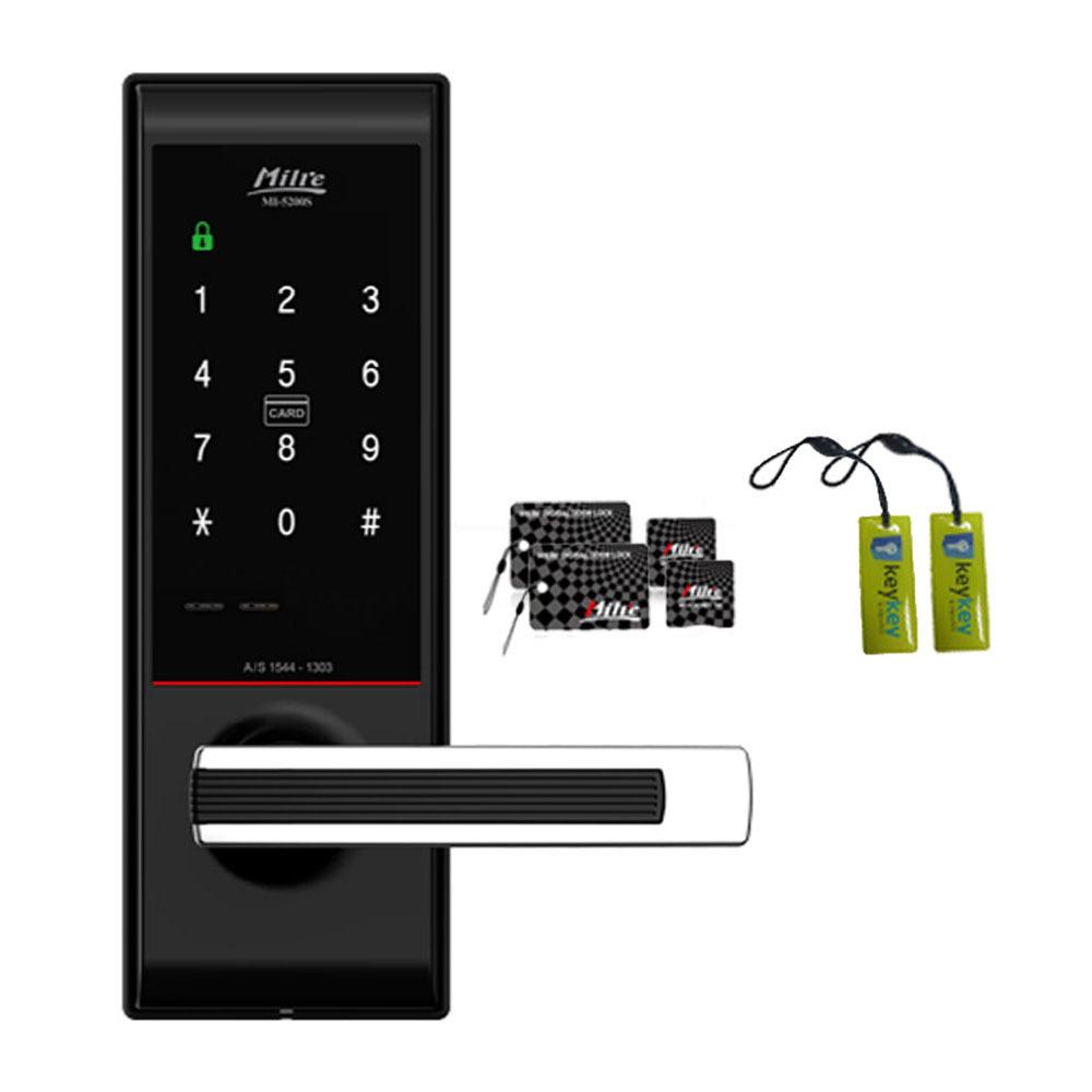 밀레 무타공 도어락 MI-5200S + 카드키 4p + 걸이형 카드키 2p