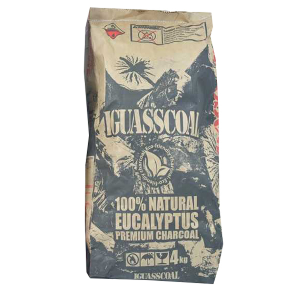 이과스콜 100% NATURAL EUCALYPTUS PREMIUM CHARCOAL 캠핑용 숯, 4kg, 1개