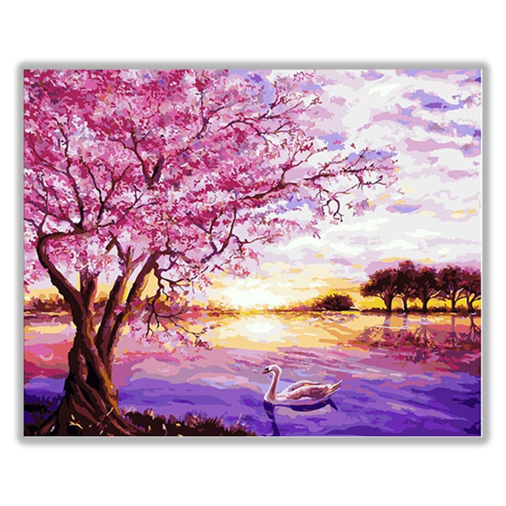 아트조이 DIY 명화 그리기 세트 40 x 50 cm, 벚꽃 호수