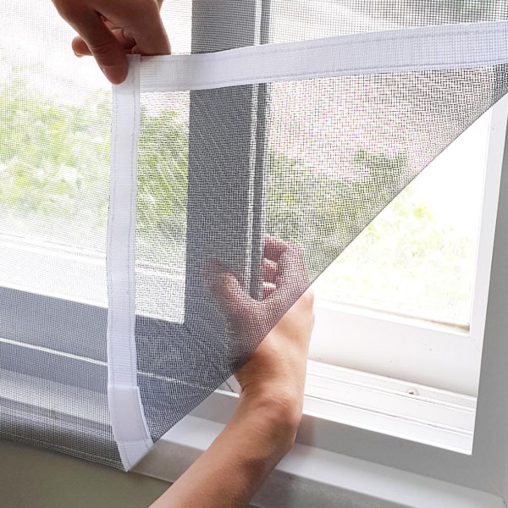 쾌청 창문 베란다 흰색 벨크로 방충망, 1개