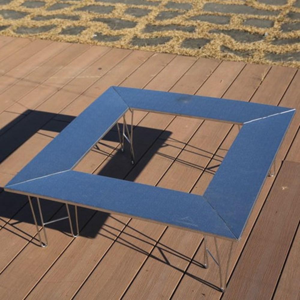 캔버라 캠핑문파이어화로 테이블, 실버-2-69042161