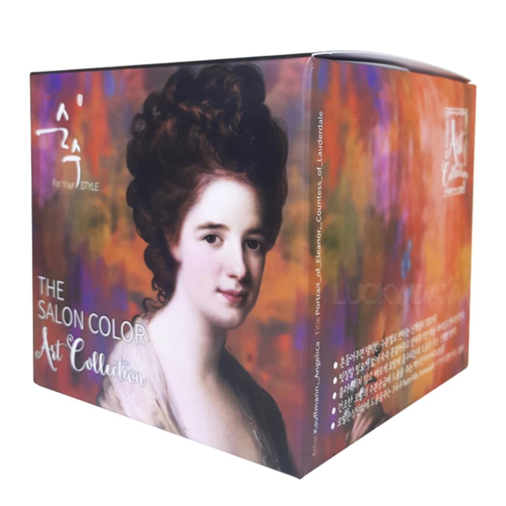 순수 더 살롱 컬러 아트 컬렉션 염색제 염모제 70ml + 산화제 70ml, 4.64 아트 와인  브라운, 1세트