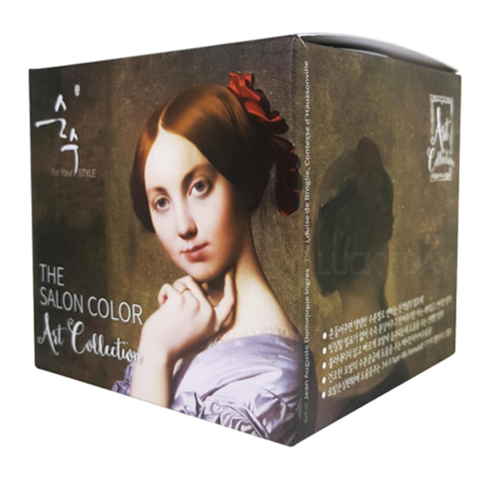 순수 더 살롱 컬러 아트 컬렉션 염색제, 4.3 밀크 브라운, 1세트