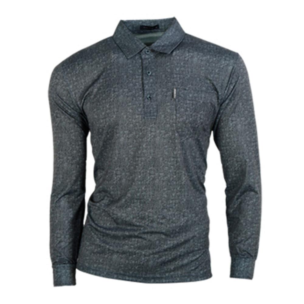 파크타운 남성용 데님스타일 나염 골프 티셔츠 CTPT2054, 블랙