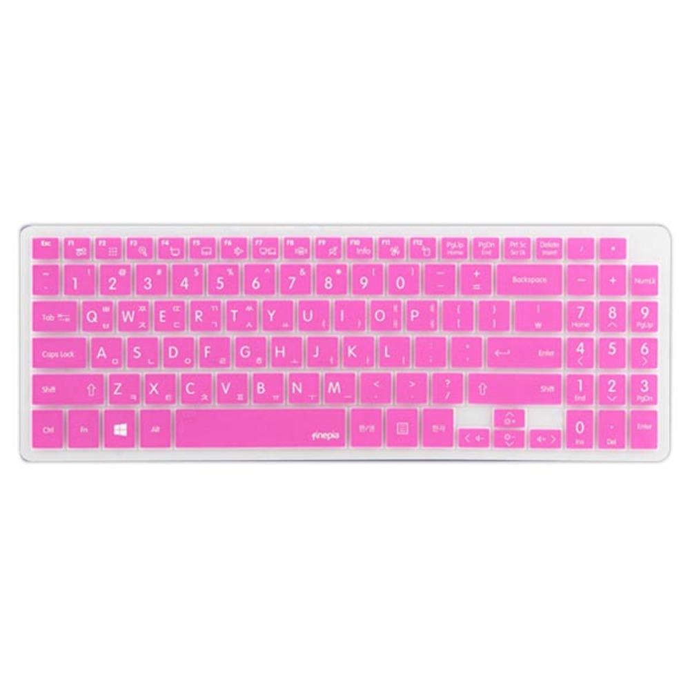 파인피아 LG 15U560 15UD560용 노트북 문자인쇄키스킨 LG12, 핑크, 1개