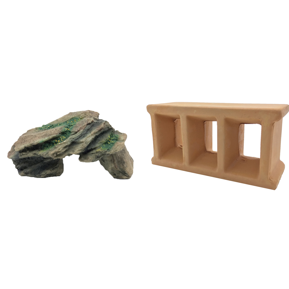 하온펫 수족관 장식용품 고인돌 1 + 교각 놀이터, 1세트