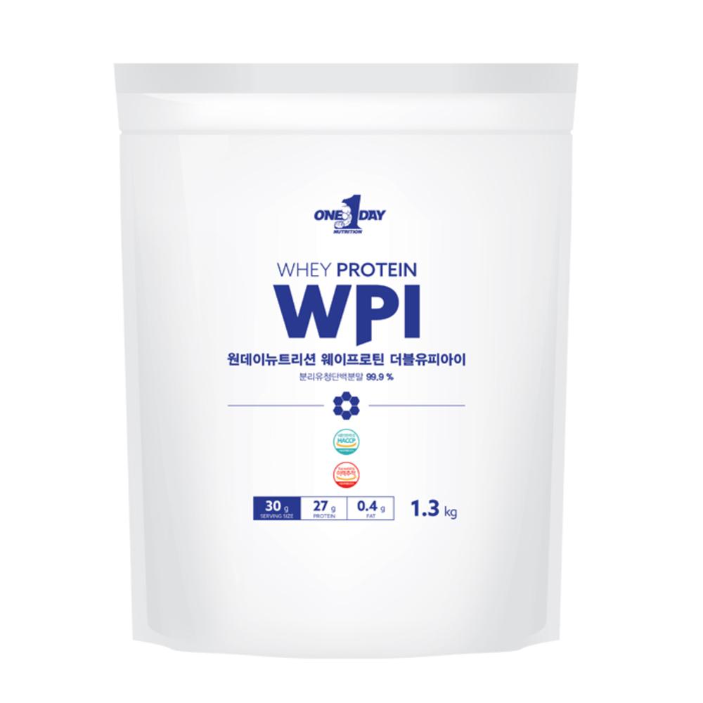 원데이뉴트리션 웨이프로틴 단백질 WPI 포대유청, 1.3kg, 1개