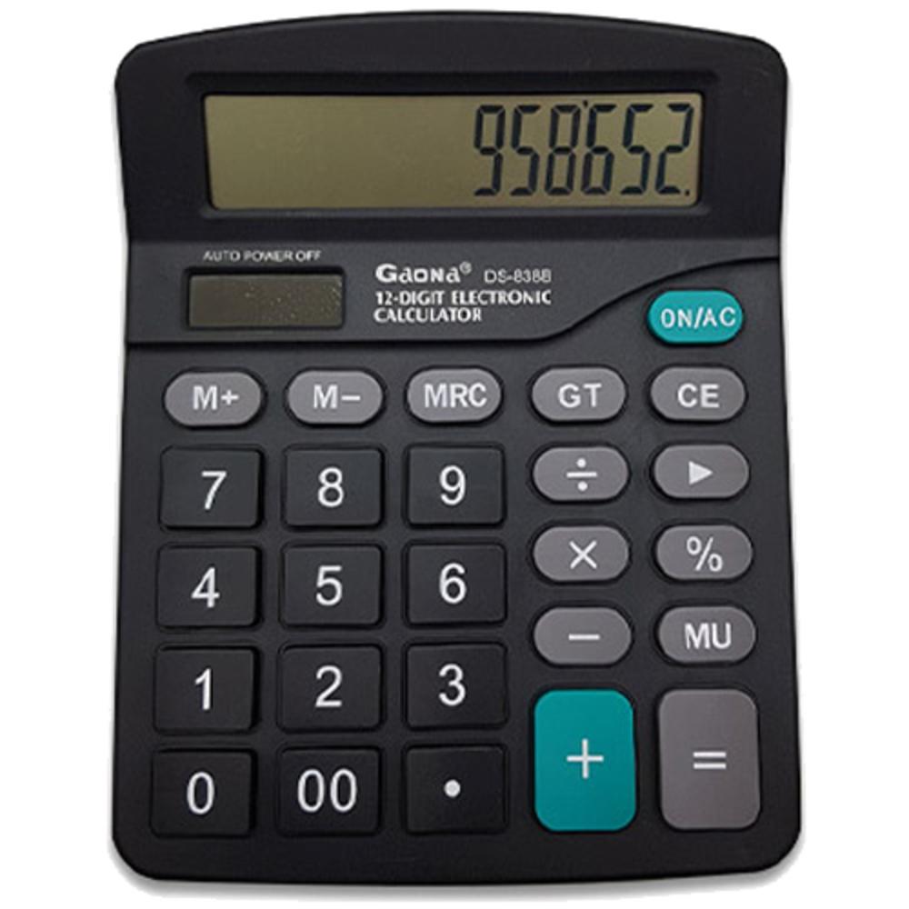 블루마토 계산기 18 DS-838B, 혼합 색상, 1개