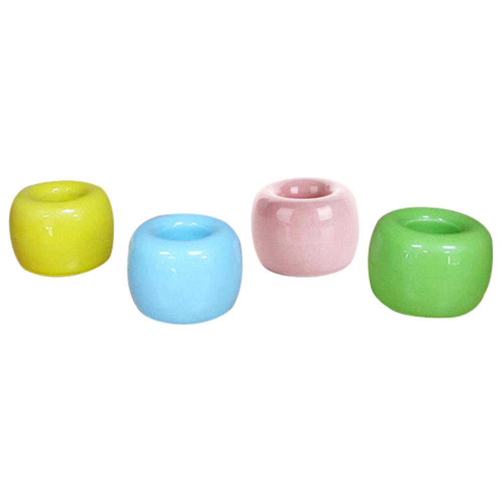 라이프토템 무지 도자기 칫솔꽂이 4p, 옐로우, 블루, 핑크, 그린, 1세트 (POP 71656054)