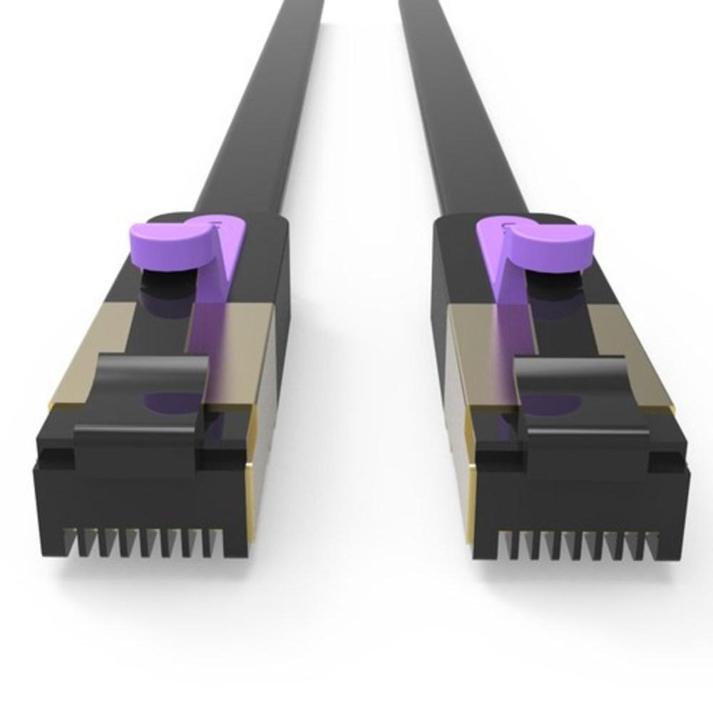 벤션 칼국수형 CAT.7 랜선 랜케이블 SSTP 10Gbps, f.블랙 5m, 1개