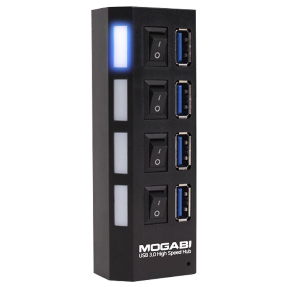 모가비 4포트 USB 3.1 Gen1 허브 MOG-030, 검정
