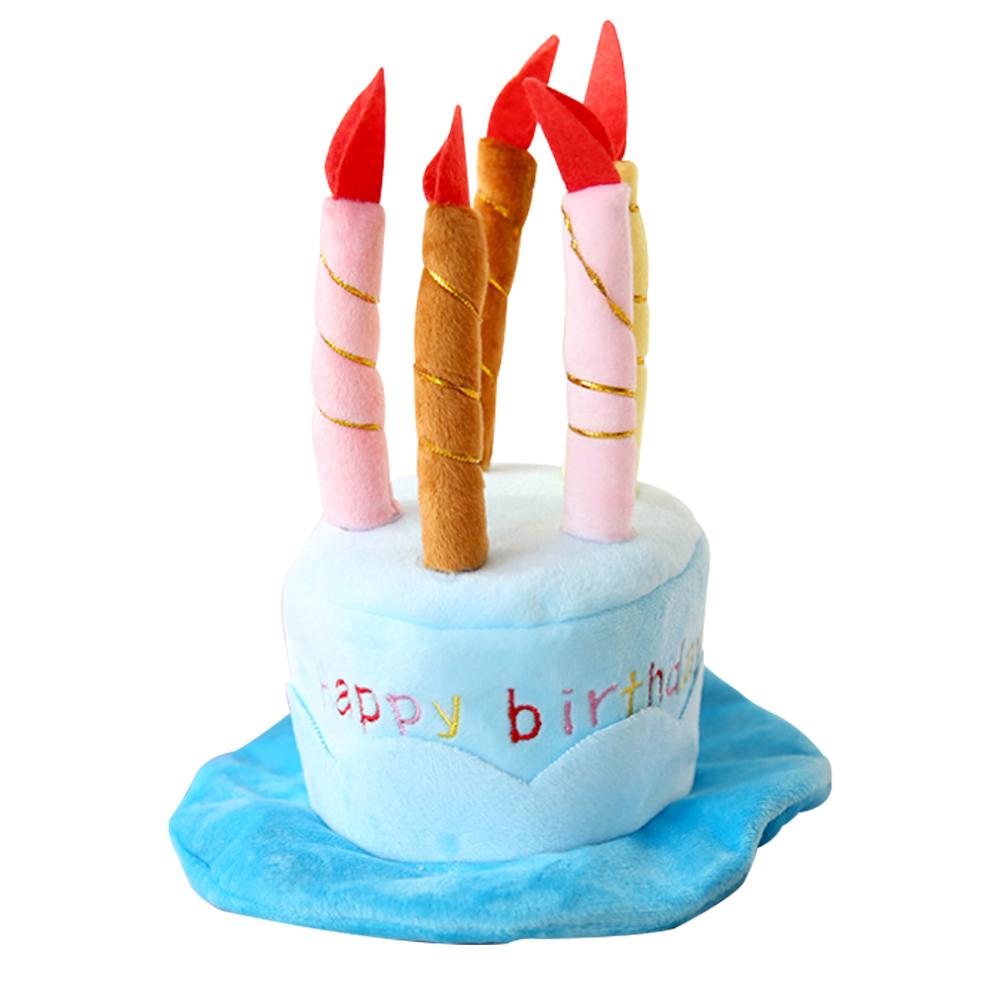DM 알럽펫 생일케이크 파티모자, 블루