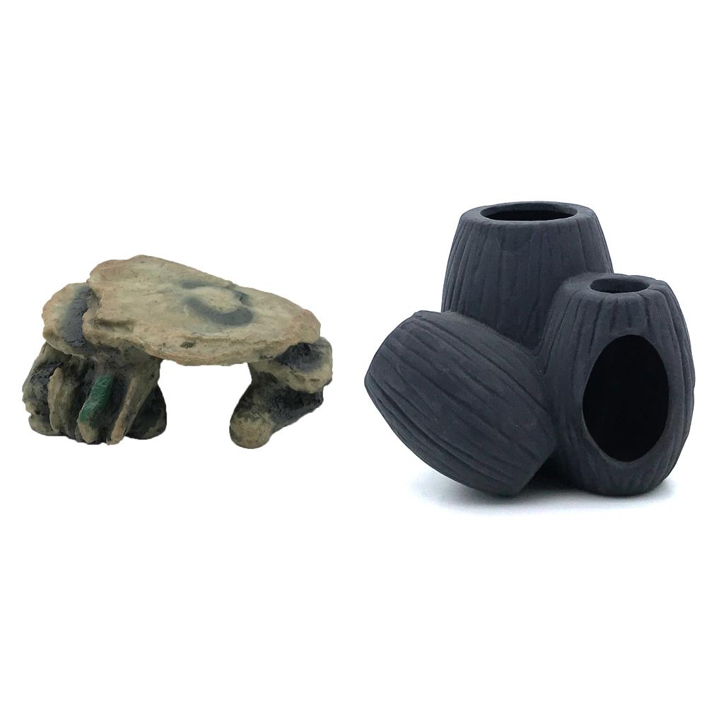 하온펫 수족관 장식용품 고인돌 2 + 디메이 블랙 TW1601, 1세트