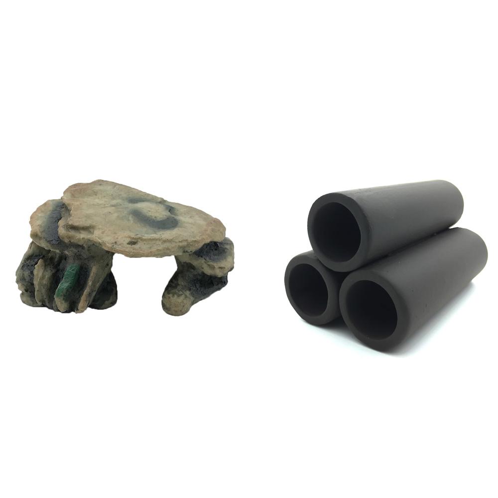 하온펫 수족관 장식용품 고인돌 2 + 흑 3구, 1세트