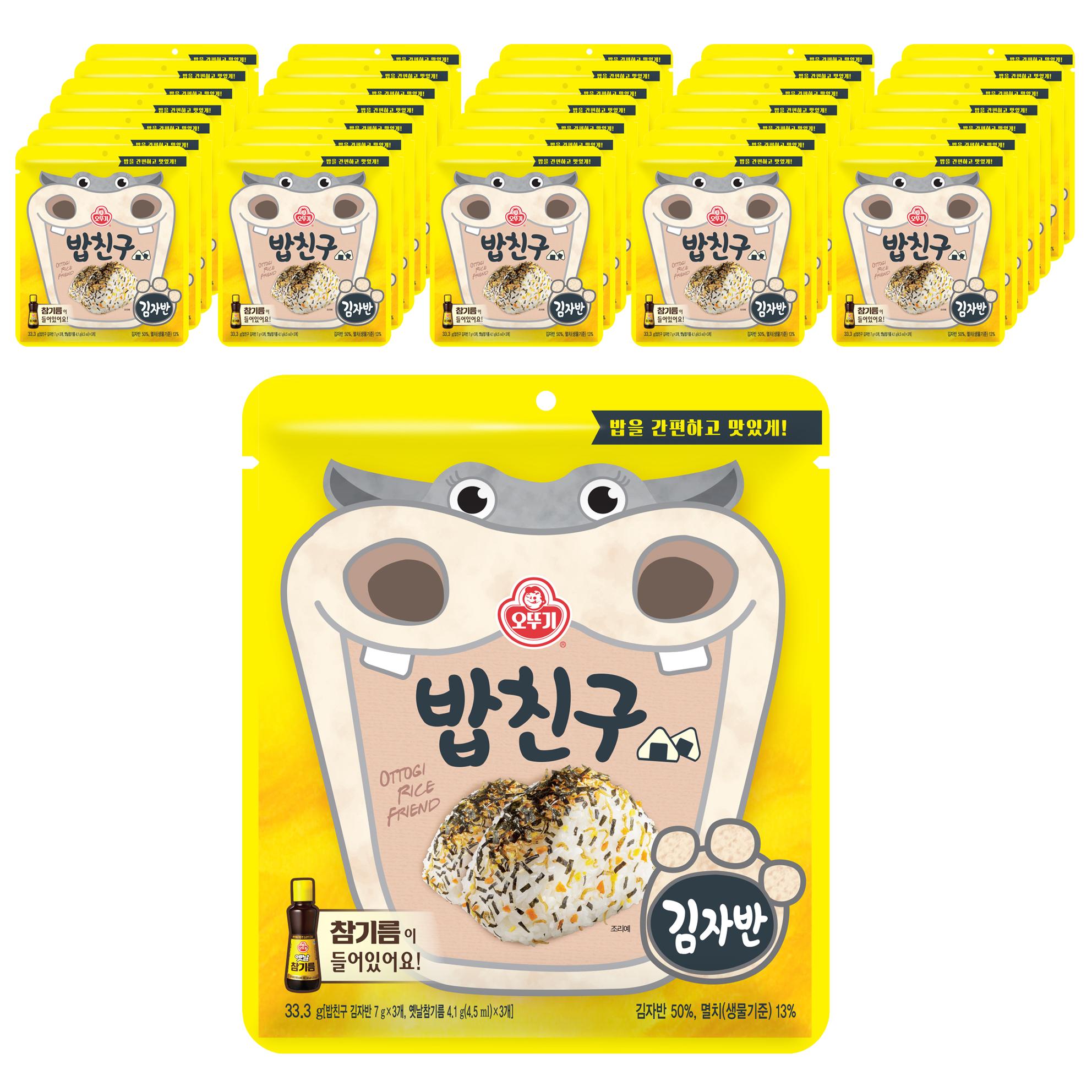 오뚜기 밥친구 김자반 후리카케, 33.3g, 40개입