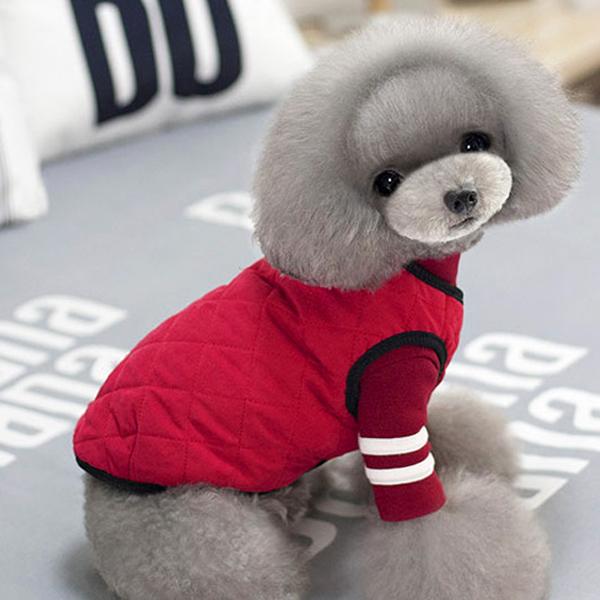 아이앤엘 강아지 퀼팅 조끼, 빨강