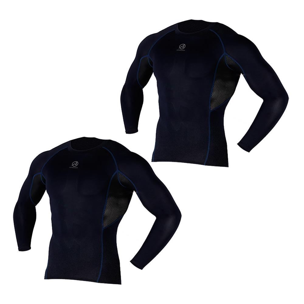 아르메데스 남성용 기능성 골프 이너웨어 긴팔 매쉬 쿨 티셔츠 R-142 2매