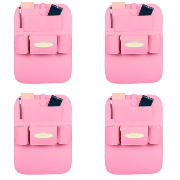 블럭마트 차량용 시트포켓 수납포켓 핑크 4개입