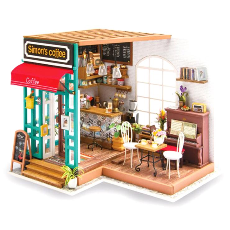 아디코 DIY 미니어처 시그니처 하우스 키트 커피숍, 혼합 색상