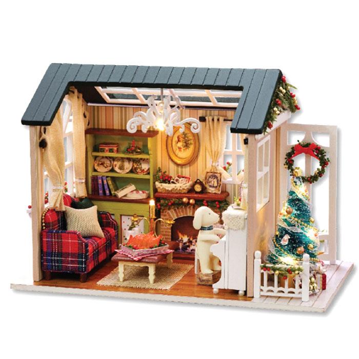 아디코 DIY 미니어처 하우스 키트 레트로 크리스마스, 혼합 색상