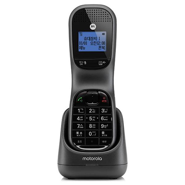 모토로라 디지털 무선 전화기 블랙, TD1001A