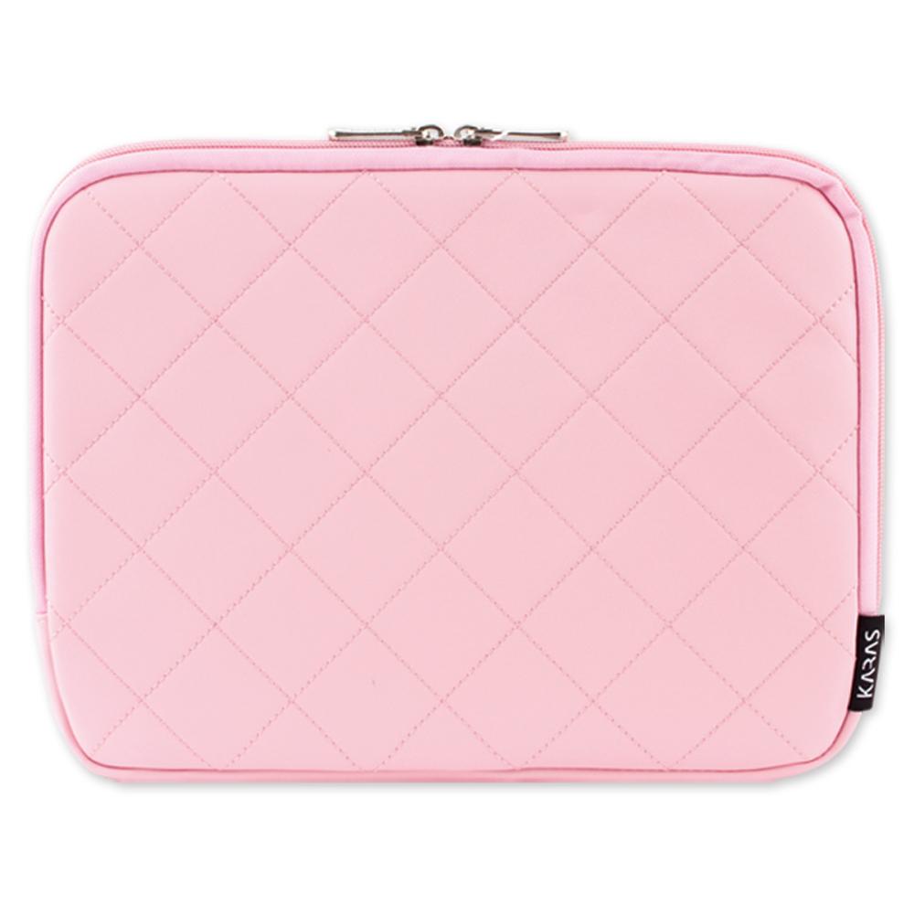 카라스 메모리폼 노트북 컬러 파우치 KP-1003, 베이비 핑크, 17.3in