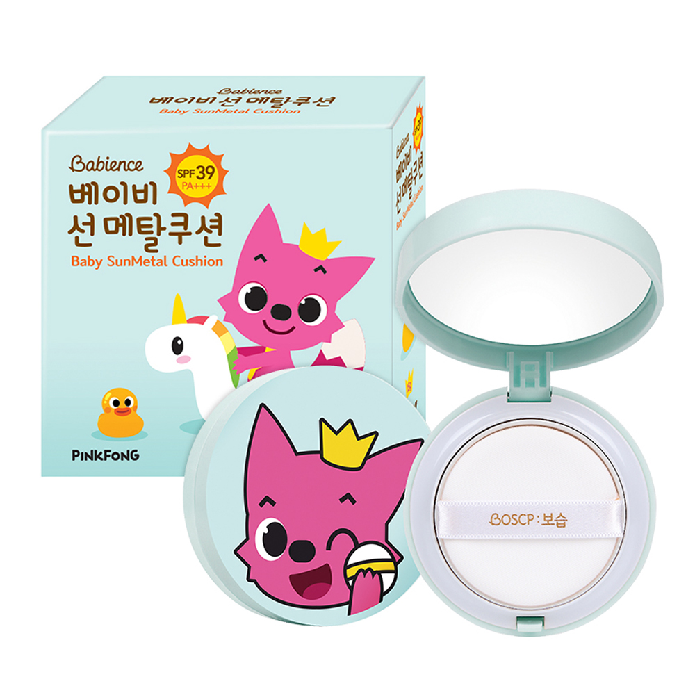 LG생활건강 베비언스 핑크퐁 선메탈쿠션 15g 유아선크림, 1개_어린이 선크림 쿠션