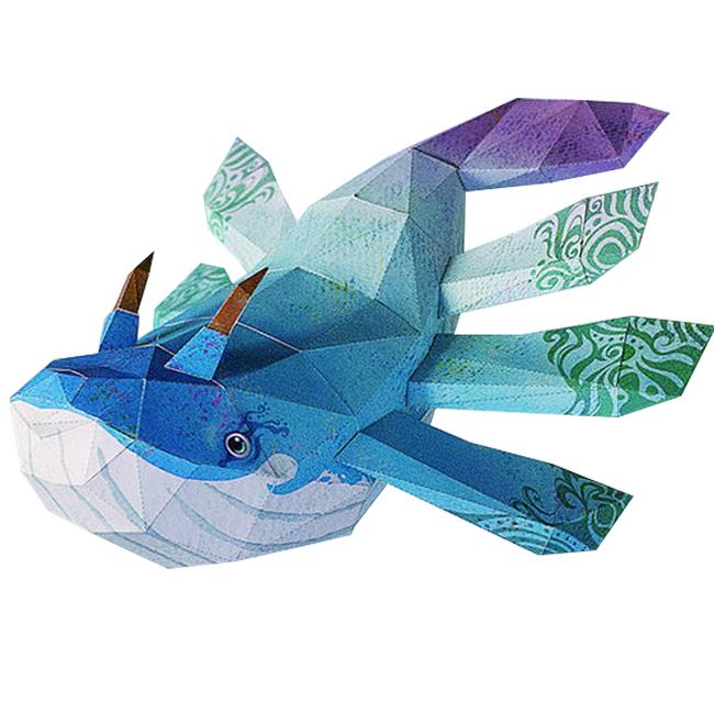 톰텐 DIY 페이퍼 크래프트 고래의 비행, 아몽