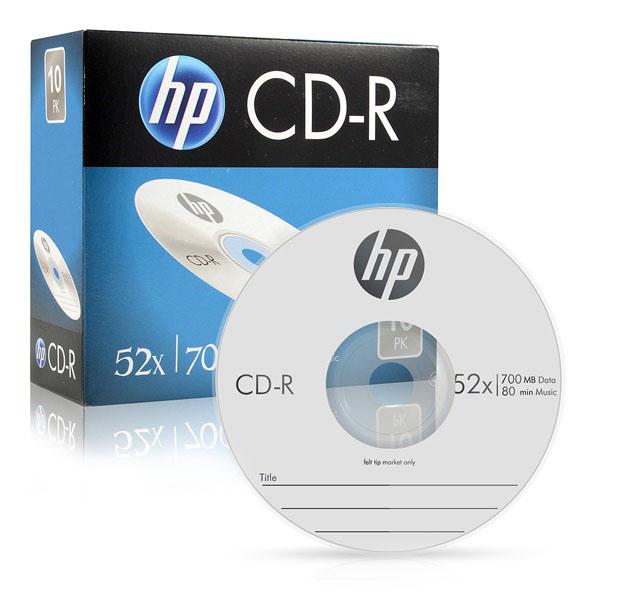 HP CD-R 52X 700MB 슬림 케이스 10p, 단일 상품