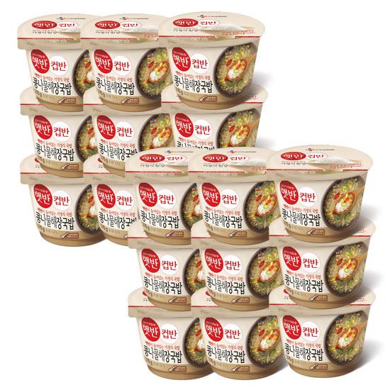 햇반 컵반 콩나물해장국밥, 270g, 18개입