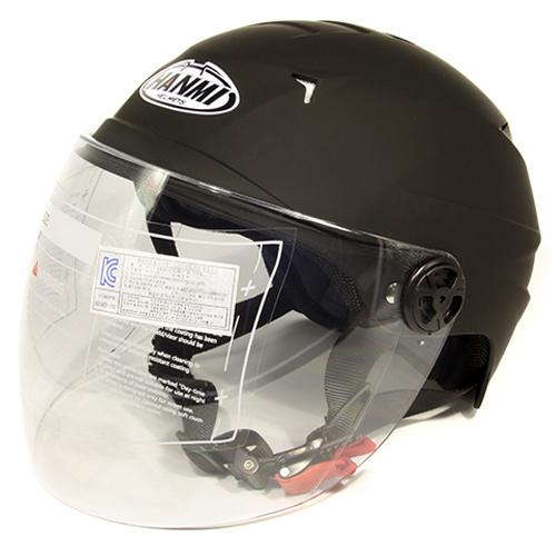 한미 캐리비 솔리드 오토바이 헬멧, 무광블랙