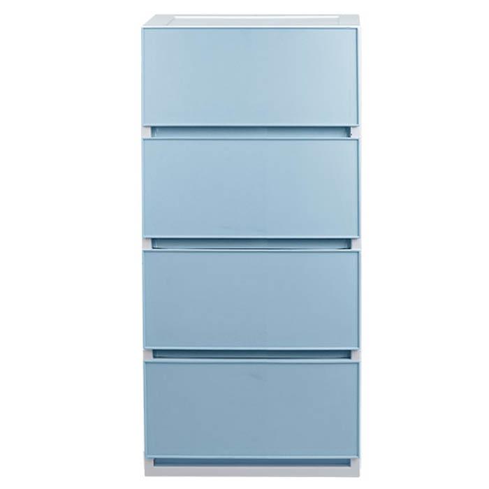 샤바스 컬러스토리 400 4단 서랍장, 블루, 1개