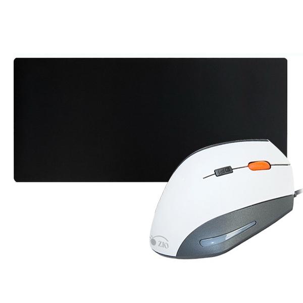 ZIO 인체공학 버티컬 마우스 ERGO900 + 프리미엄 초대형 게이밍 마우스패드 Gz-MP900, 마우스(ERGO900), 패드(Gz-MP900), 마우스(화이트), 패드(혼합 색상)