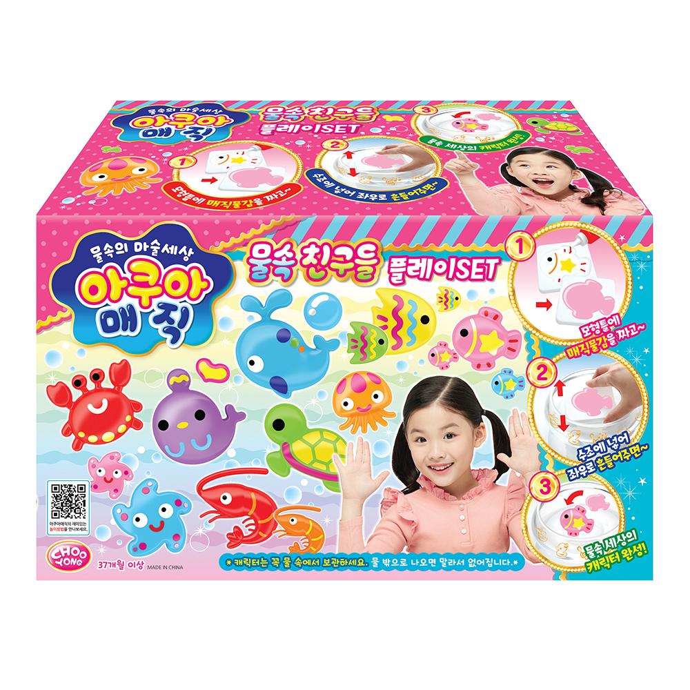 주영이앤씨 아쿠아 매직 물속친구들 만들기 플레이 세트, 혼합 색상