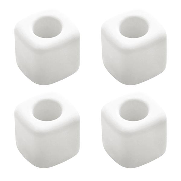 블럭마트 규조토 칫솔꽂이 사각, 화이트, 4개입