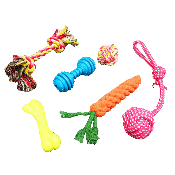 제제펫 반려견 실타래 장난감 세트 Y301PDTT005, 혼합 색상, 1세트