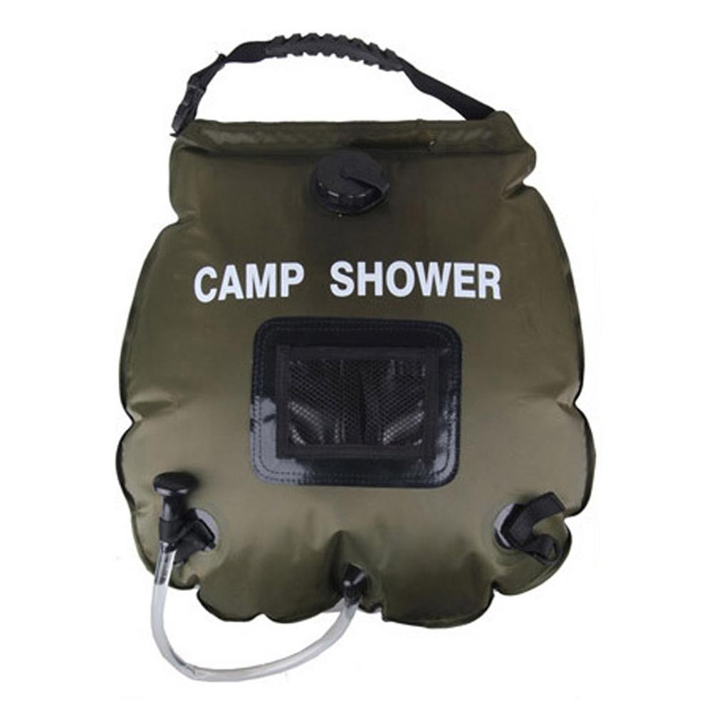 캠핑마을 캠핑 샤워백 20리터, 혼합 색상, 1개