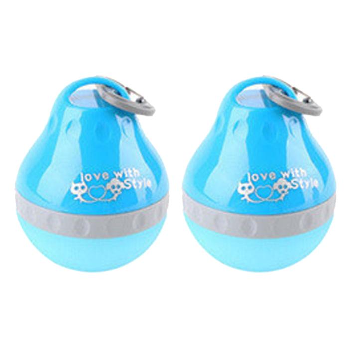 DrMini 고양이 & 강아지 실리콘 겔 호리 물병 200ml, 블루, 2개입