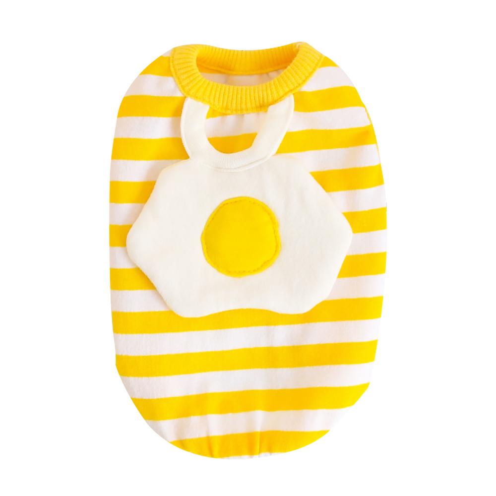 알럽펫 반려견 계란후라이 스트라이프 조끼  옐로우강아지 멀티줄 가라티 DT038  옐로우펫츠랜드 단가라 봉봉 민소매 티셔츠