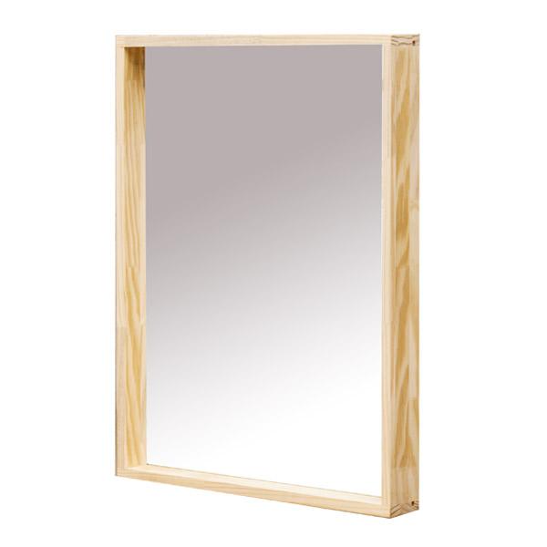 포메리트 포리드 소나무 원목 사각거울 450, 원목색