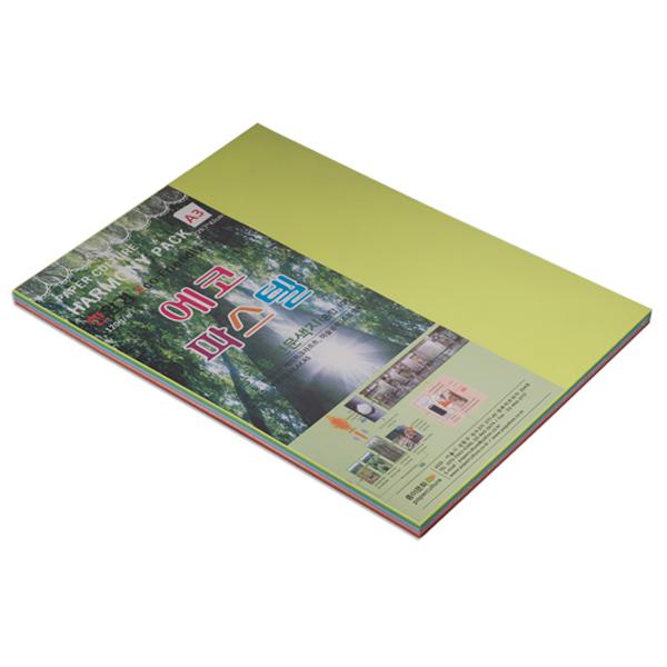 종이문화 에코파스텔 120g 10색 혼합 색상, 100매