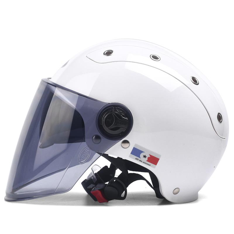 YEMA 반모 선그라스 바이크 헬멧 0810, 화이트