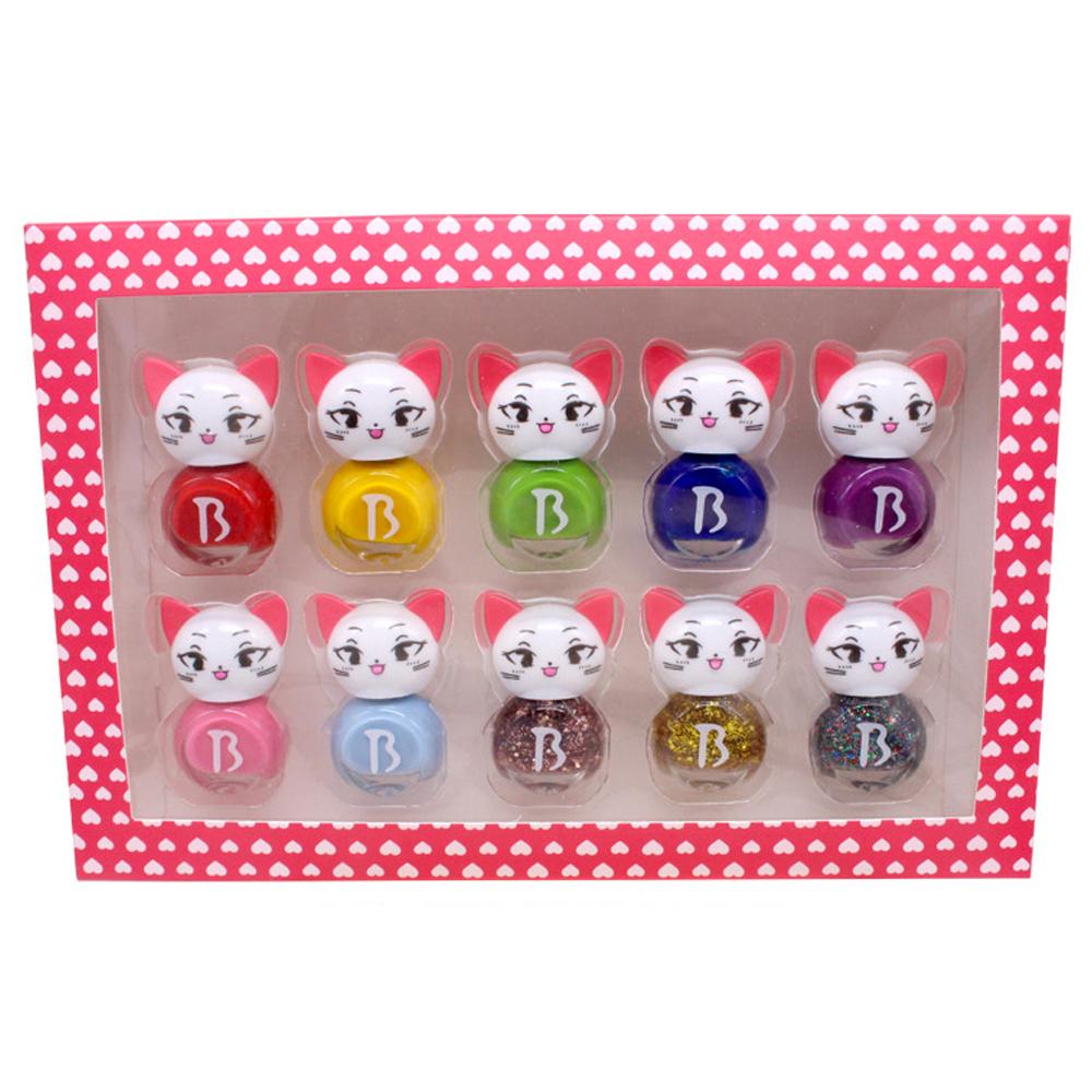 바블리 키즈네일 냥이 어린이매니큐어 선물세트 10p, 혼합 색상, 1세트