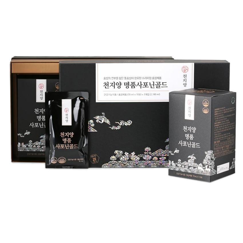 천지양 명품 사포닌골드 홍삼진액 30개입 2100ml 1세트