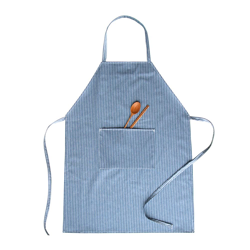 브링미 방수 앞치마 와이드형, 블루레인, 1개