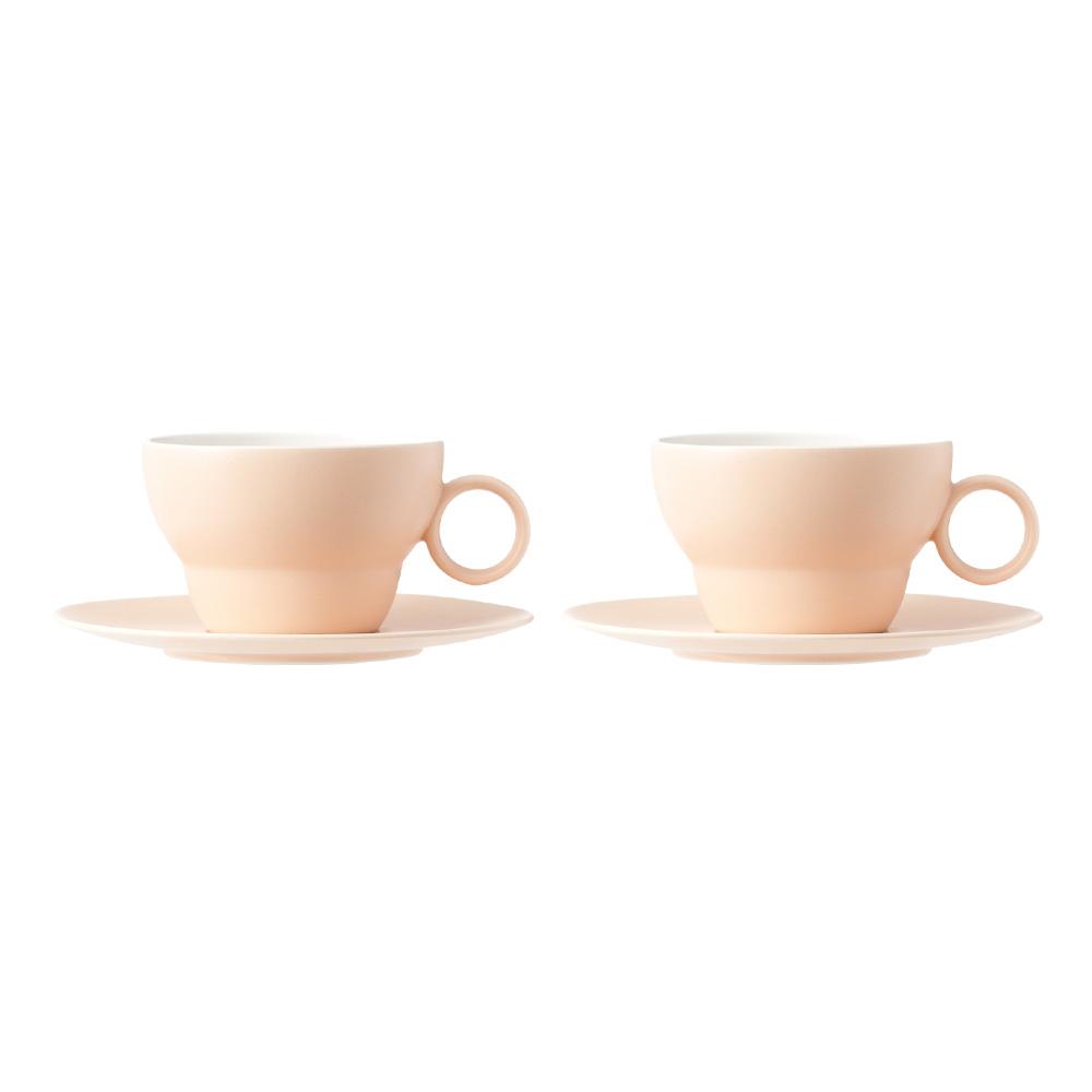 보울보울 볼볼오리진 2인조 커피잔세트, 피치블라썸, 1세트